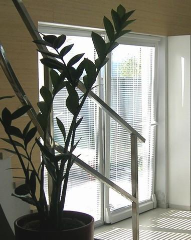 Horizontálne hliníkové žalúzie v dome