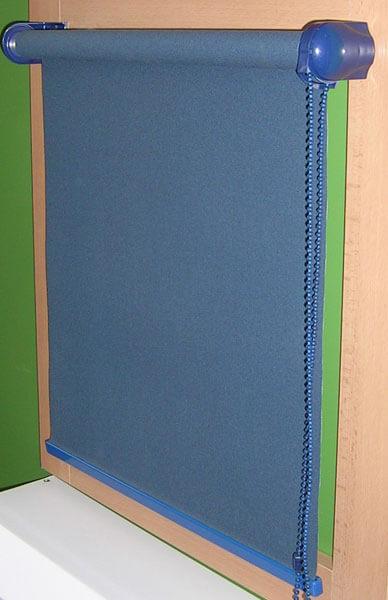 Látkové roletky modrej farby