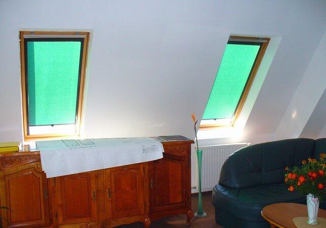 Látkové roletky zelenej farby