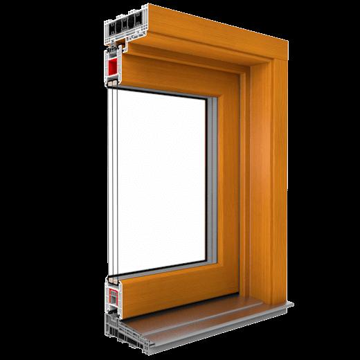 Dvere IGLO-HS vyrábané na základe vlastnej technológie sedemkomorových profilov triedy A, vyrábaných výhradne z prvotného materiálu